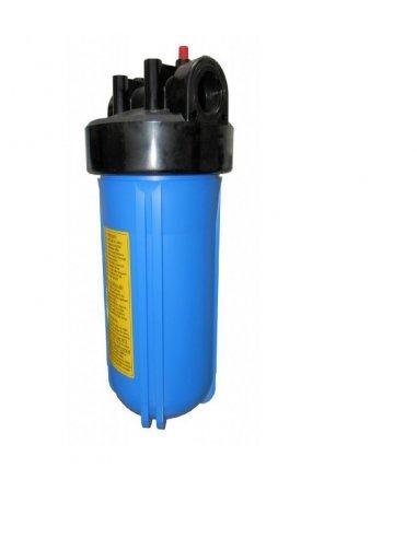 Contenitore big 10 blue IN-OUT 3/4 - pulsante rilascio pressione con chiave e staffa