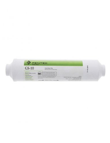 Pentek GS-10CAL/RO Filtro in Linea remineralizzatore e regolatore del PH (GAC) al cocco 1/4 FPT 2x10 - 20 micron