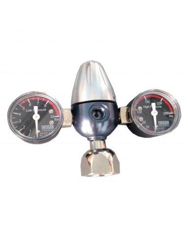 Riduttore di pressione Co2 per bombole ricaricabili 21.8x1/14 (2 manometri)