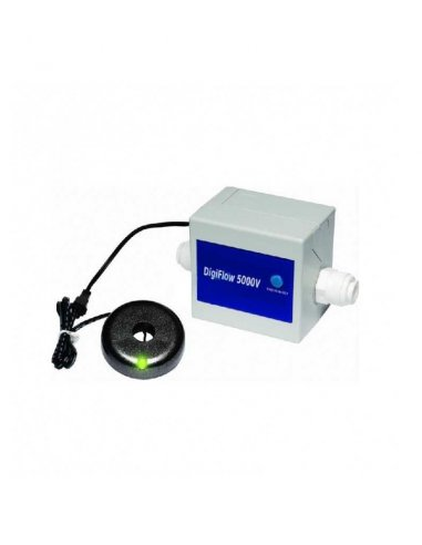 Digiflow 5000v contalitri allarme litri con disco a led Preimpostato a 2.000 litri